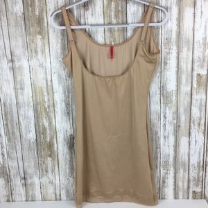 Spanx 1x tank body suit shape wear nude dress mini